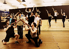The cast of Big Fish in rehearsal [x]  I am very excited to see this on Saturday!