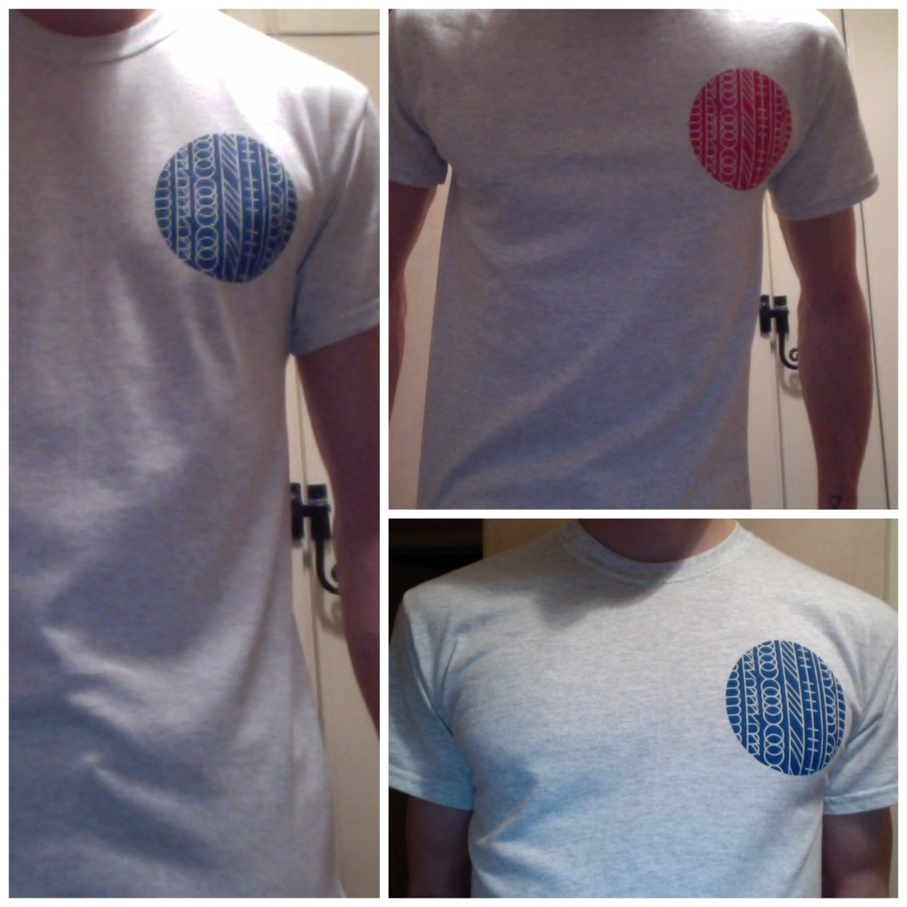 New T-Shirt available at our shows in Scotland next month. Red or Blue on ash grey