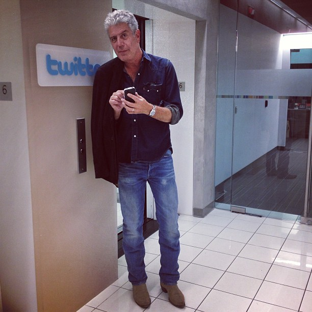 @AnthonyBourdain tweeting at twitter…so meta (at Twitter NYC)