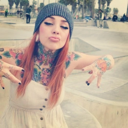 luis-temno:  Oh Yeah!!!  #redhead #tattoos #piercing #expansion #street #stile