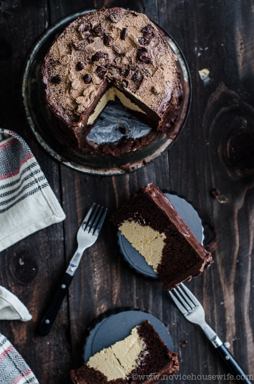 maadfoodhouse:  Chocolate Cake with Coffee Mousse Filling