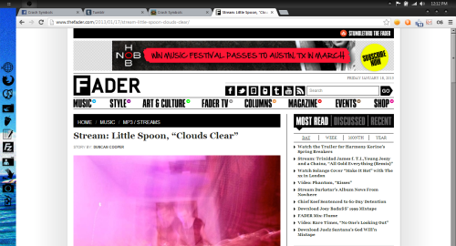 The folks over at The Fader showing our girl Little Spoon some love!