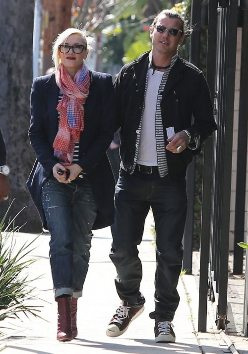 Gwen Stefani out and about in West Hollywood with Gavin Rossdale, 21st February 2013.