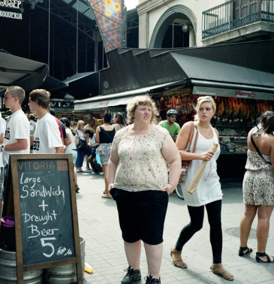 "Weight Watchers: Photographer Shoots Strangers Giving Her Weird Looks""Memphis-based photographer Haley Morris-Cafiero's intriguing and eye-opening self-portrait series titled Weight Watchers exposes the negative looks she receives from passersby in public spaces."""