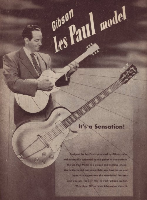 First ever poster of a Les Paul