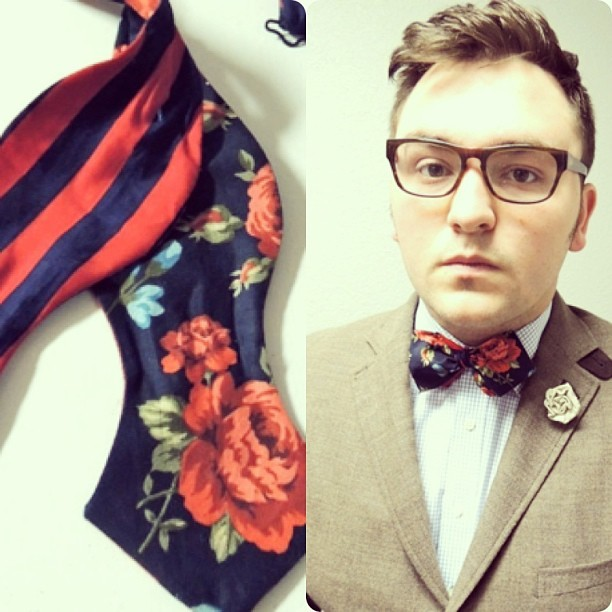 ewmccall:  #floral #spring #bowtie Now Available in the Online Store! Check it out!
