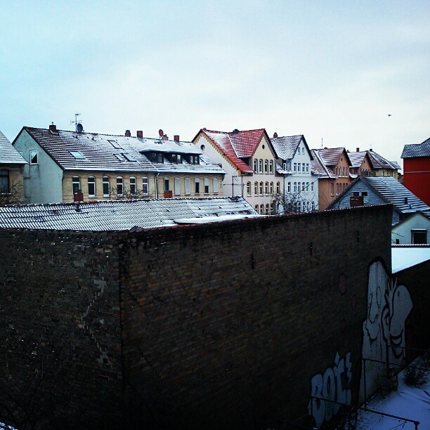 First snow in Braunschweig #snow #schnee #sneeuw #christmas #winter #germany