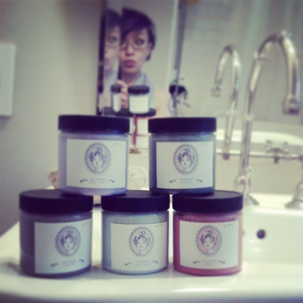 A bounty of Persephone organic hair care.