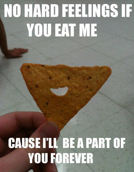 Overly attached chip