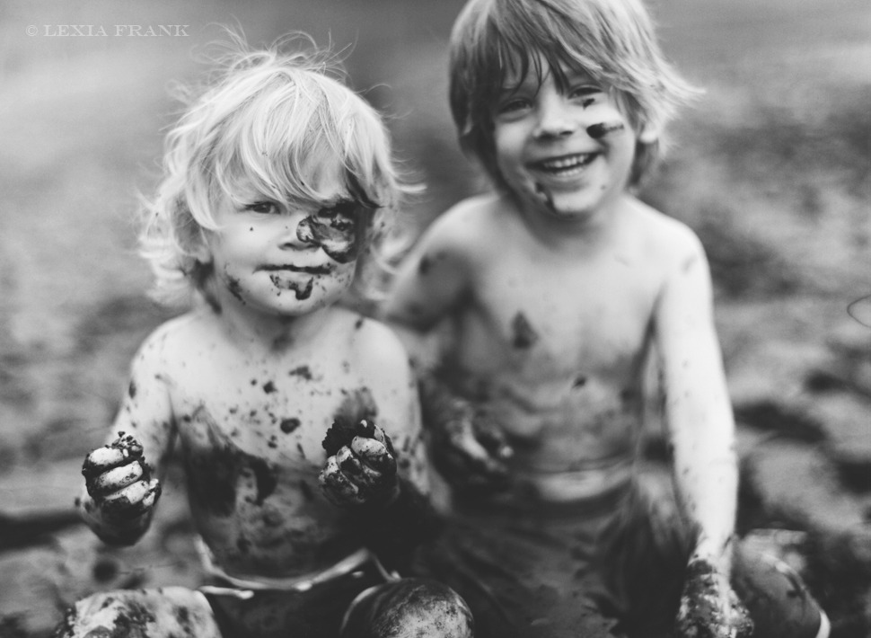 awelltraveledwoman:  This looks like a younger version of my boys. Always muddy…  That's going to be my life one day.