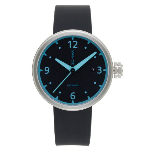 wantering:  Xetum Kendrick Black-Teal Dial Watch
