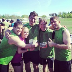 Completed Tough Mudder today! Running through 16km of mud and over 20 obstacles.