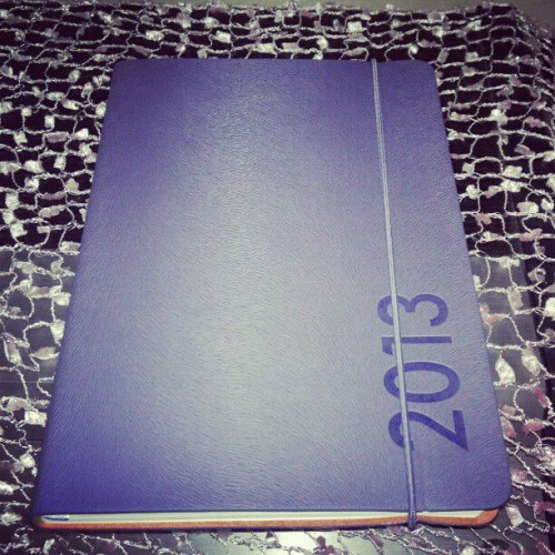 Hello 2013 Planner. I'm so excited to write something on you. We'll be together for the rest of the year. =)