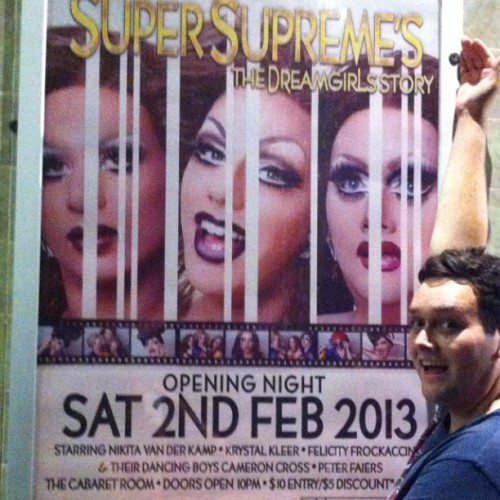 Show poster. Show starts at The Imperial Hotel on Saturday Night 2nd Feb from 10pm! amazing  #gay  #gaymayzing #best #weave #drag #dragqueen #supremes #felicityfrockaccino @nikitavanderkamp @jasper_cornelius #krystalkleer #nikitavanderkamp #nikitavdk #flissfrock #dragshow #diva #glamour #goodday #theimperial