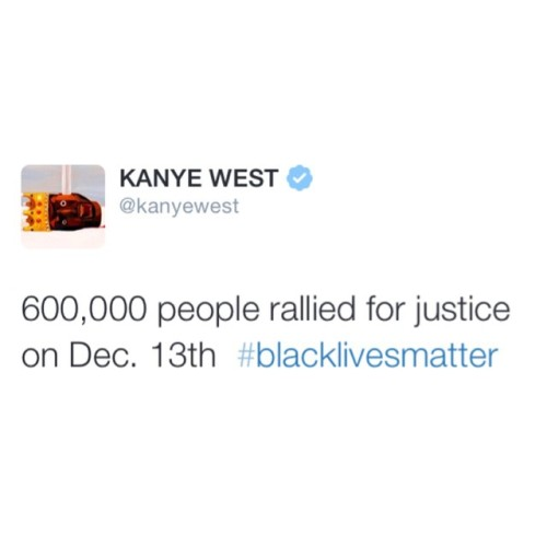 teamkanyedaily:  #KanyeTweeted #BlackLivesMatter #MikeBrown #EricGarner (and more)