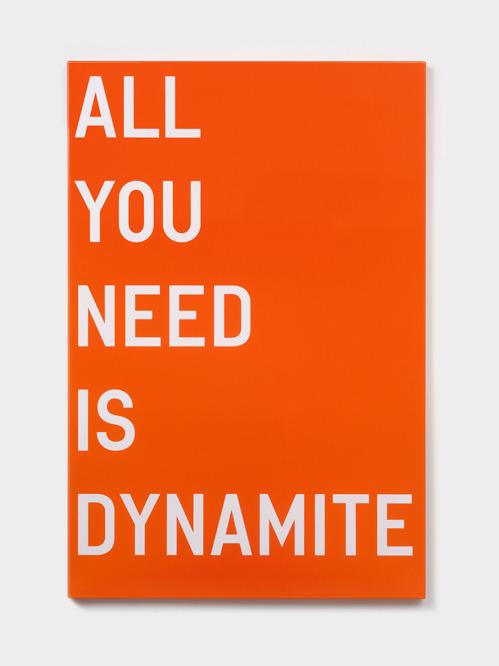 visual-poetry:  »all you need is dynamite« by rirkrit tiravanija (+)