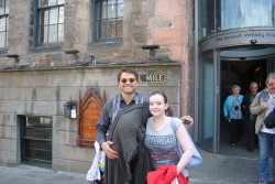 super-wolves:  i met misha at edinburgh castle earlier, im still dead