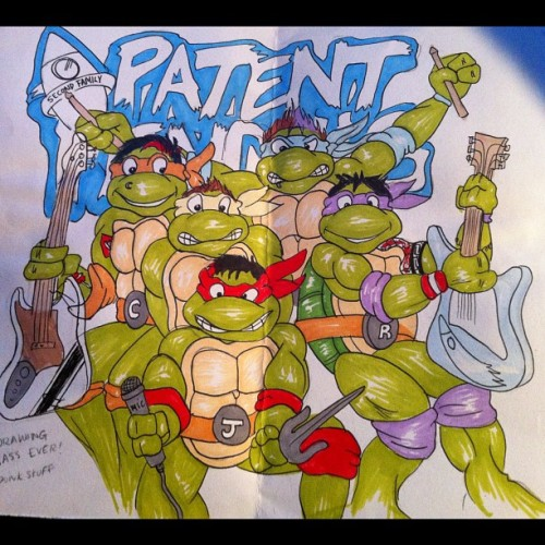 Teenage Pending Ninja Turtles!!!!!!! Drawn by @mychemicalchloe #patentpending #ninjaturtles #punkstuff