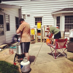 Our own Nat'l #Homebrew Day… with @cvdub & @necssryevil #bigbrew13 #sundayfunday