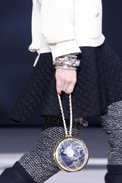 glamour:  It's a Chanel world at the brand's fall 2013 show in Paris today. -Becky Malinsky