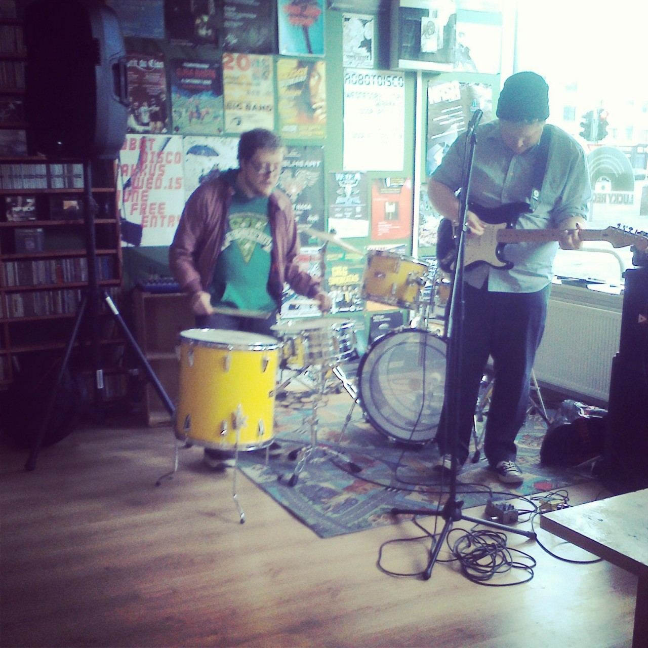 Playing Lucky Records on Record Store Day.