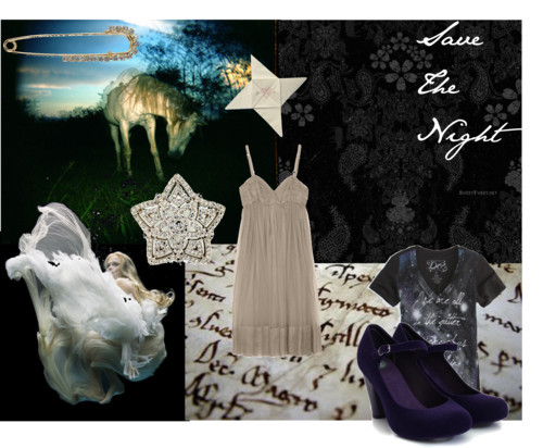 Save The Night by opheliasm featuring antique jewelry