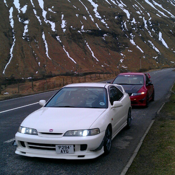 Road trip #scotland #winter #honda #dc2 #fn2