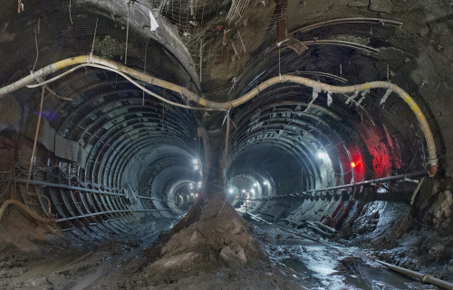 brooklynmutt:  The Tunnels of NYC's East Side Access Project  More: The Atlantic