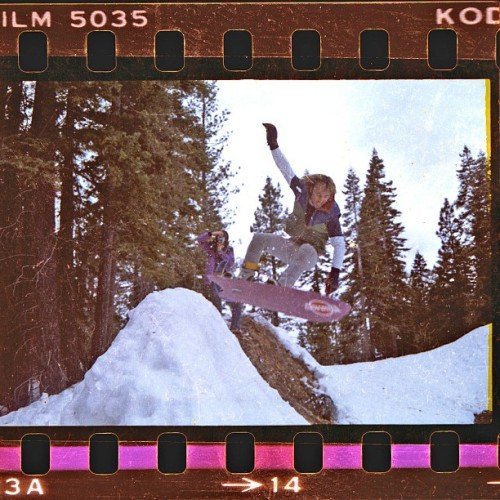 Tom Sims ripping a #frontsideair at the Tahoe City Dump halfpipe! Early 80's. #timelessstyle #kodakfilm #thankstom #foreveralegend #snowboard #shredstagram