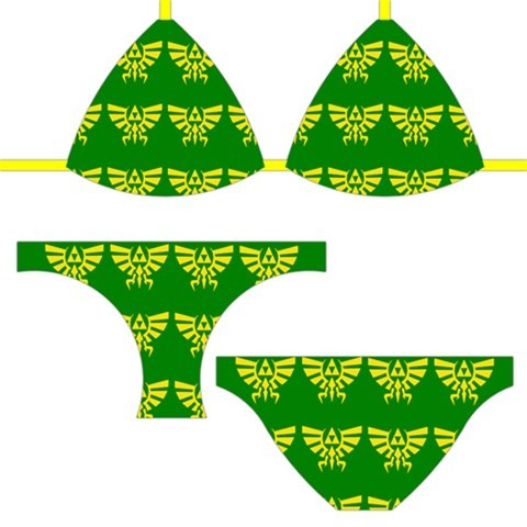 muchneededmerch submitted: NEW LOZ Hylian Crest Bikini! These bikinis are a brand new addition to the store and are fully customizable. Lots more designs to come soon but if you have any suggestions please let me know! Sizes S-XL Follow MNM on Tumblr and or Facebook (10% off code)