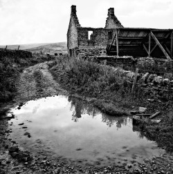 Derelict Uplands Farmstead Weardale, County Durham. UK.