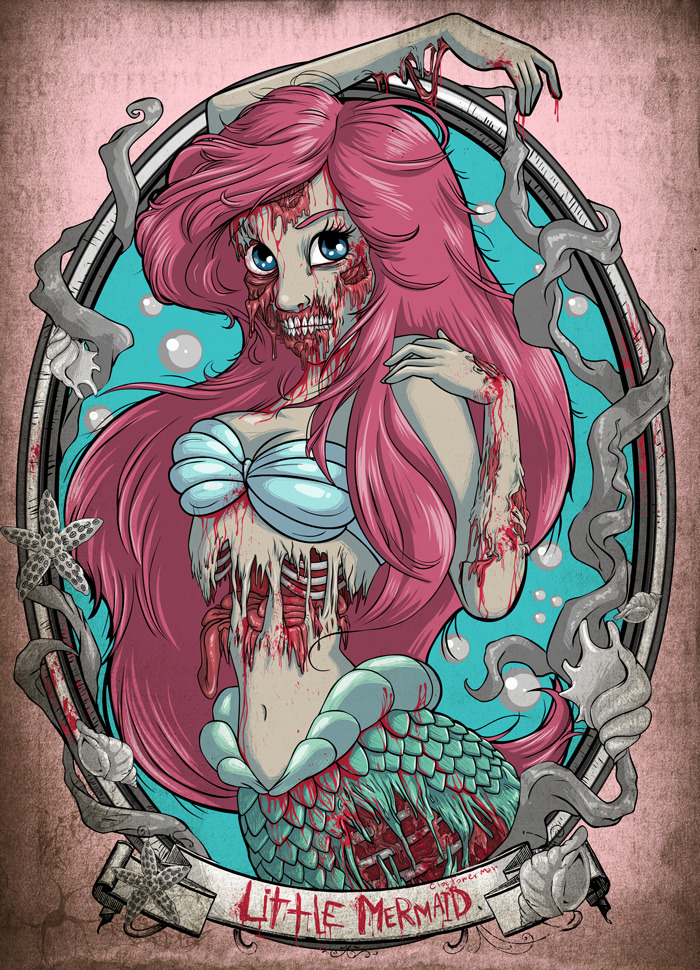 ops-its-the-undead:  Fills my need for the Little Mermaid and Gore!