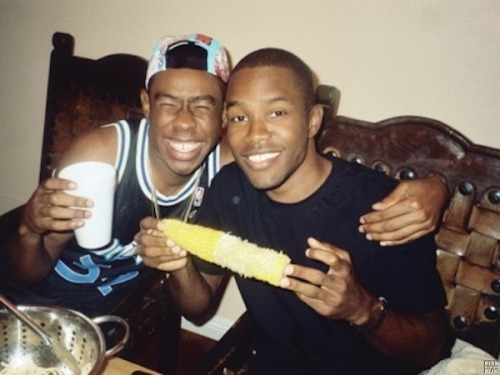 "nocavane:  lusture:   Rolling Stone: Did you know Frank Ocean was gay before he came out last year? Tyler, the Creator: Yeah, I was one of the first people he told. I kinda knew, because he likes Pop Tarts without frosting on them, so I knew something was weird. But that's my nigga.  they are my two favorite people in the world   ""thats my nigga"" omg"