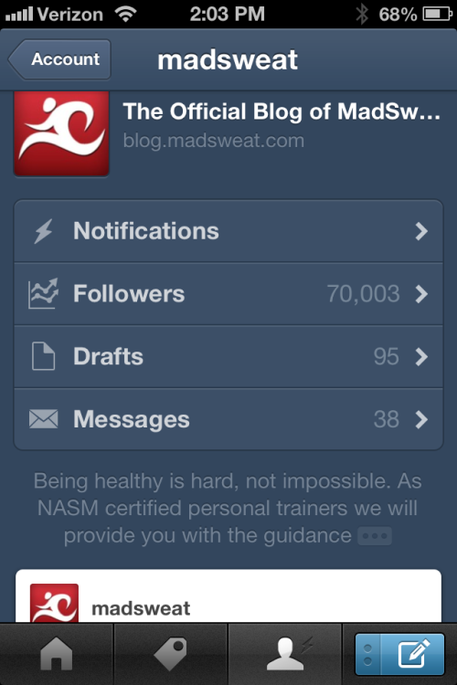 Woo Hoo!!! We hit the 70,000 follower mark on Tumblr today. To everyone who continues to supports us thanks for making that happen you are all AWESOME!!!