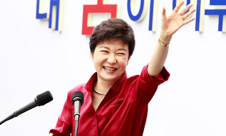 Congratulations to Park Gen Hye for winning 2012 South Korean Presidential Election . She will be the first female to become South Korean President and will be taking oath into office on 25 February 2013 . I just hope that President-Elect Park Gen Hye will be able to build and maintain a good and healthy relations with the North Korean so the two Korean countries can take a step ahead towards Korean unification . Under the leadership of President-Elect Park Gen Hye I also expect that South Korea can become more prosperous country and will have a stronger ties with Indonesia and other countries .