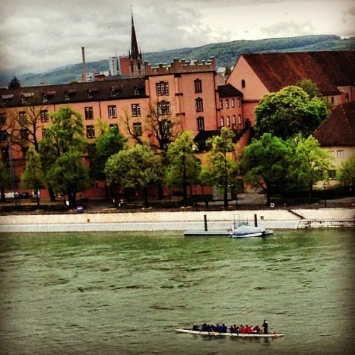 #Rowing down the #Rhine #River #basel #swiss #switzerland #water #boat #europe #iphoneography #iphoneonly #photooftheday #iphoneonly