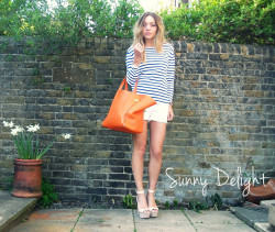 Sunny Delight. (by Vee Vee)#summer #stripes  http://www.afluenza.blogspot.co.uk http://www.veeveevogue.tumblr.com @veeveevogue