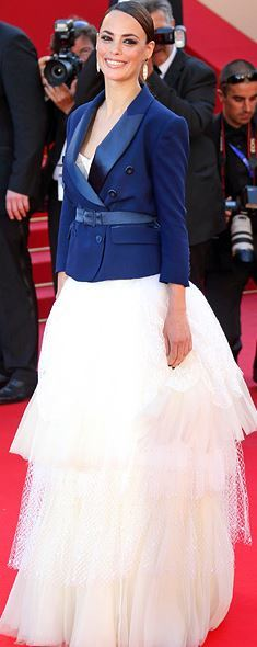 Berenice Bejo in Alexis Mabille Couture at Cannes LOVE this blazer over tulle look, so fun