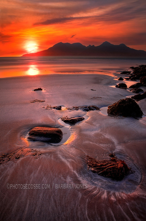 Isle of Rhum Sunset by  Barbara Jones