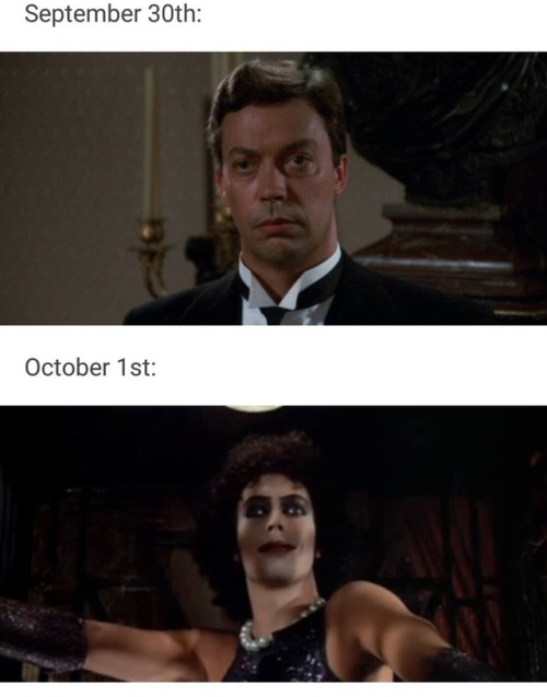 my aunt sent this to my family groupchat my whole fam is rocky horror af btw rocky horror picture show rocky horror rhps