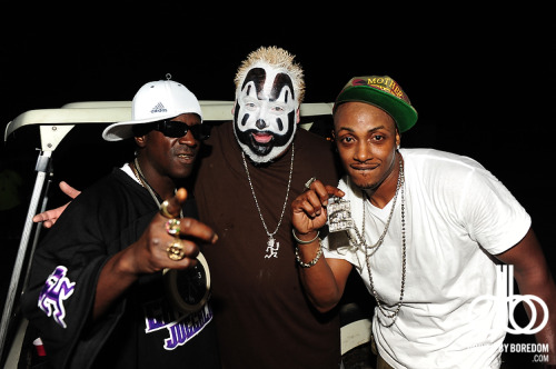 Flavor Flav, Violent J from Insane Clown Posse and Mystikal. What a weird group to be hanging out. One of my favorite celeb shots ever. Just one more day to go of this blog!