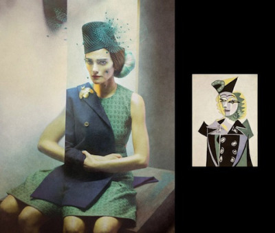 (via Picasso Portraits As Real-Life Fashion Photos – Flavorwire)  This one's my favorite.  Delightfully creepy!