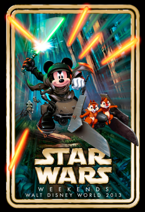 A first look at the artwork for this year's Star Wars Weekends, featuring the battle on Endor this year. They've also announced that Ray Park, the actor who played Darth Maul, and Warwick Davis who starred as the Ewok Wicket W. Warrick will be present this year for the event.