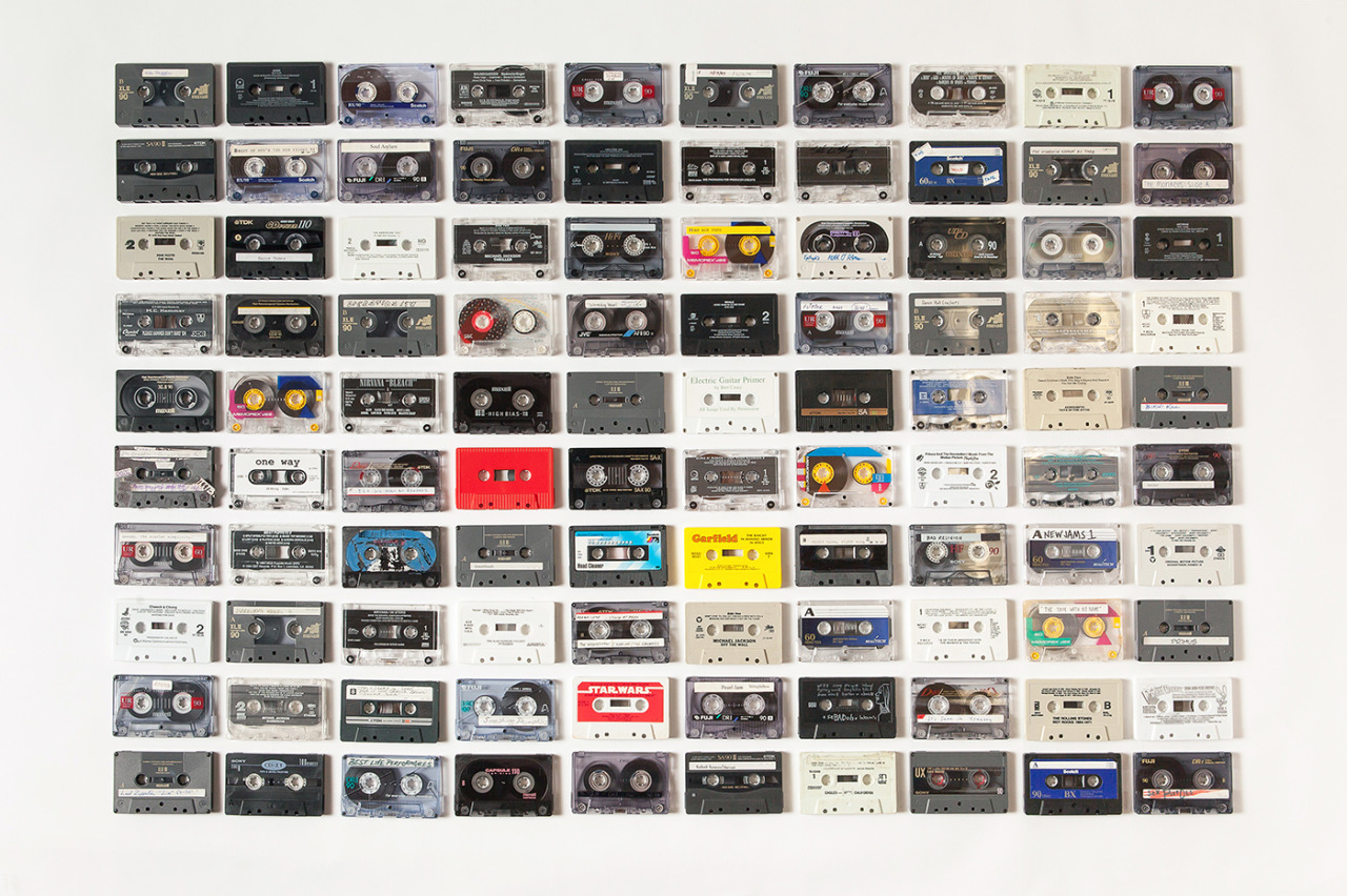 jasontravisphoto:  100 Cassette Tapes.  Prints available (also full tape listing) on Society6