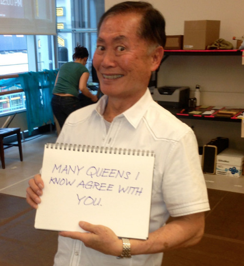 George Takei responds to fans of traditional marriage.