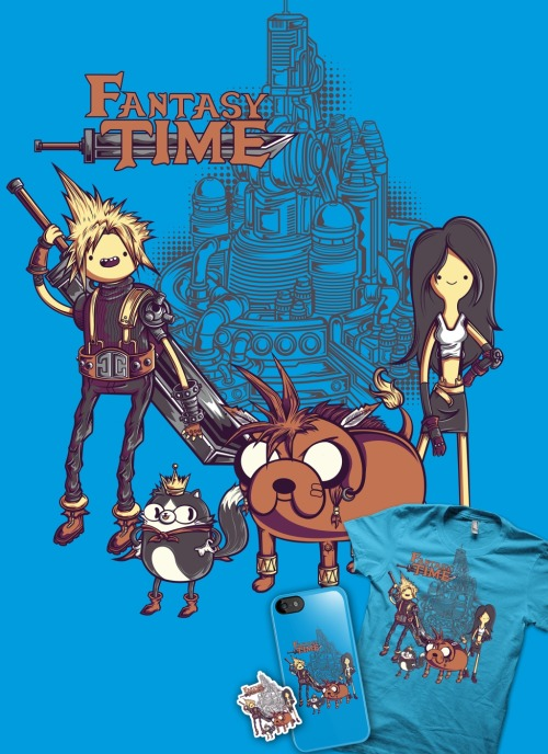 jmlfreeman:  Fantasy Time design Tshirts, stickers and iphone cases Available in http://www.redbubble.com/people/jmlfreeman/works/10141739-fantasy-time