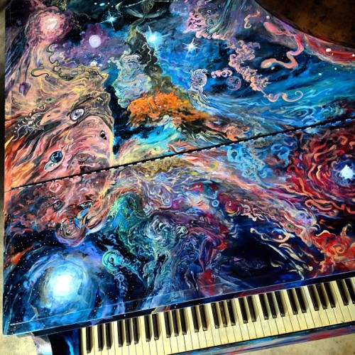 "Proud to announce that my Sing for Hope Piano, ""88 Keys to Consciousness"" is finished. Pianos go public June 1st! Visit mine at Roosevelt Island until the 15th."