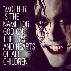 Happy Mother's Day! #thecrow #brandonlee
