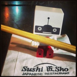 roybotvision:  #lilroybot is ready to get down (at Sushi Sho)