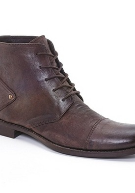Crinkle Look Leather Ankle Boots by La Redoute http://goo.gl/RpQPh